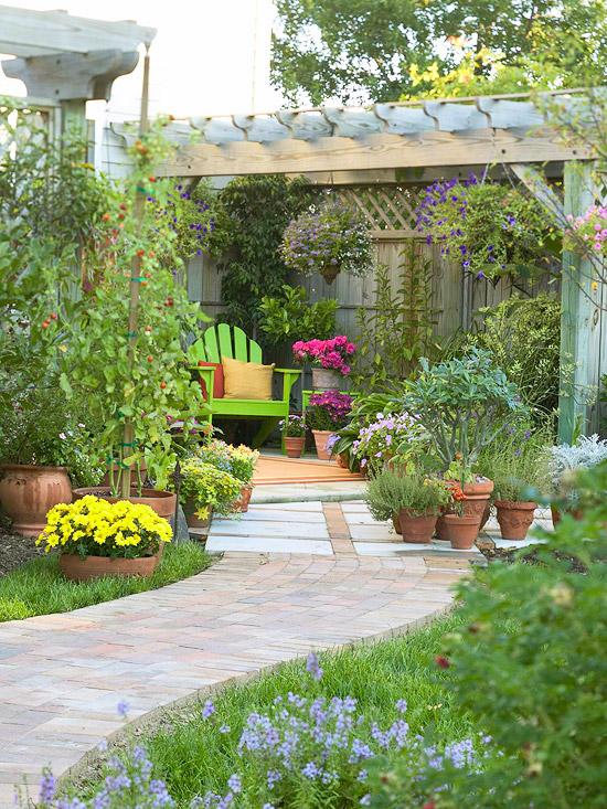 gartenpfade und gartengänge folgen weg