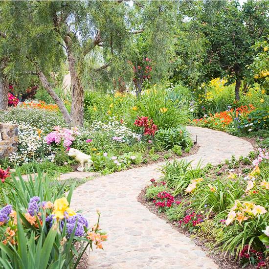 gartenpfade und gartengänge - ideen für landschaftsgestaltung,