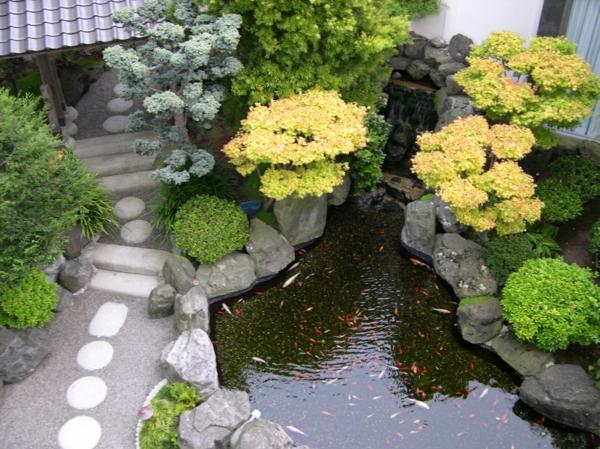 gartenteich anlegen wassergarten gestalten asiatisch