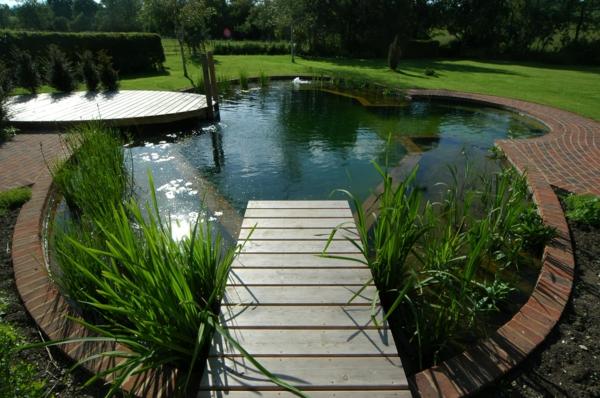 Schönen Gartenteich anlegen wassergarten gestalten cool