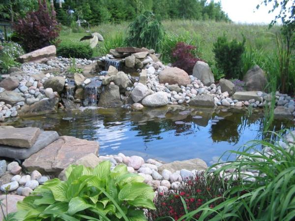 wassergarten gestalten koi fisch Schönen Gartenteich anlegen