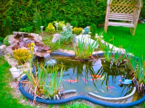 gartenteich anlegen wassergarten gestalten schön