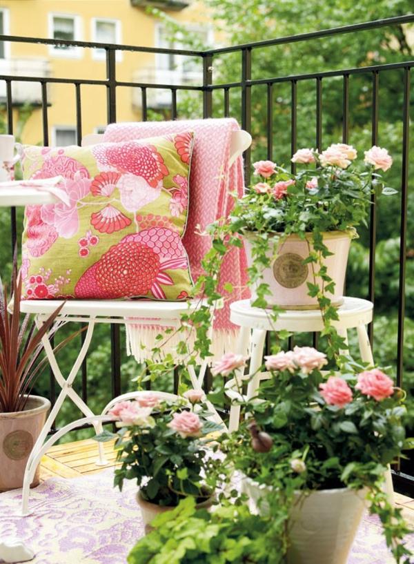 hängenden garten auf balkon gestalten kleingarten rosen