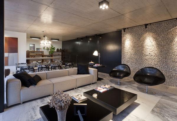 helles jugendliches haus brasilien design dunkel glanzvoll