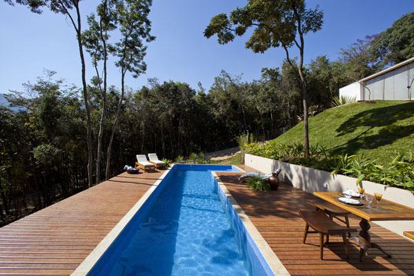 helles jugendliches haus brasilien design pool