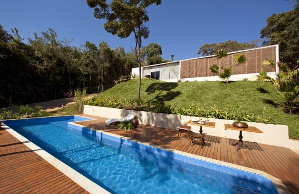 helles jugendliches haus brasilien design sonnig sommerlich residenz
