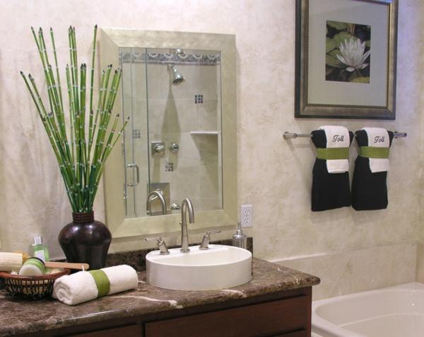 Badezimmer Deko Bambus ~ Kreatives Haus Design, Badezimmer