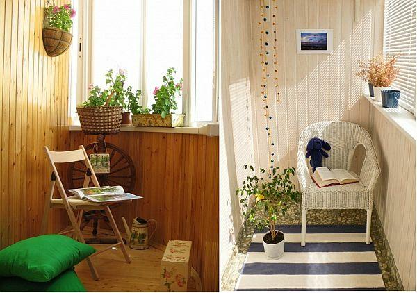 kleiner balkon ideen außenmöbel klappstuhl sitzkissen pflanze sonnenlicht