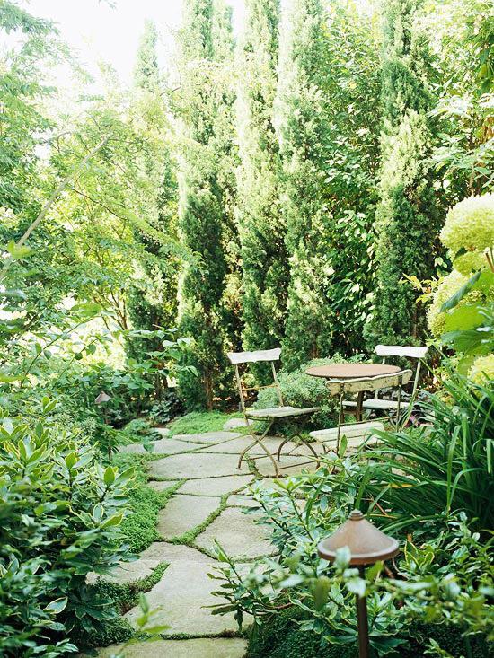 kleiner garten - ideen für optische vergrößerung - Kleiner Garten
