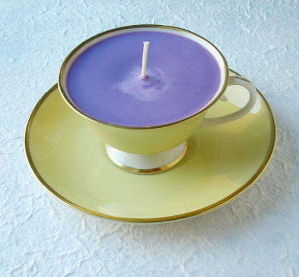 kreative deko ideen zum muttertag lila kerze