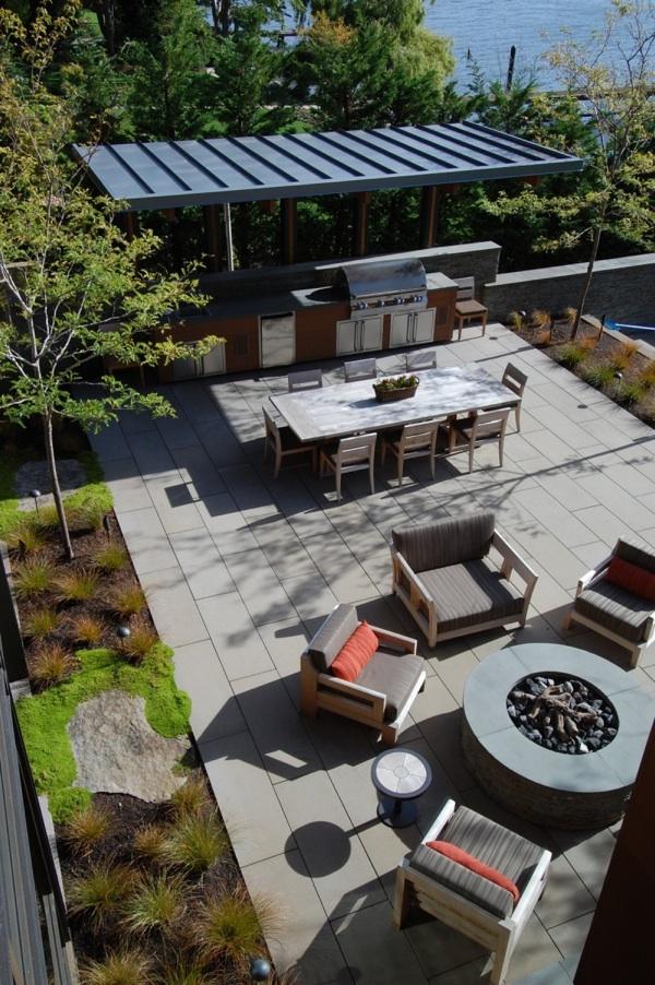 34 tolle und innovative vorgarten und hinterhof ideen. Black Bedroom Furniture Sets. Home Design Ideas