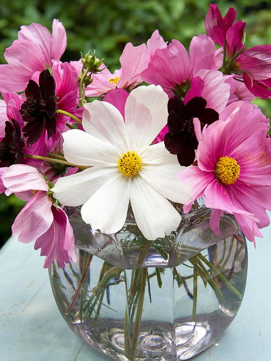 leichte blumen deko ideen zum muttertag weiß rosa