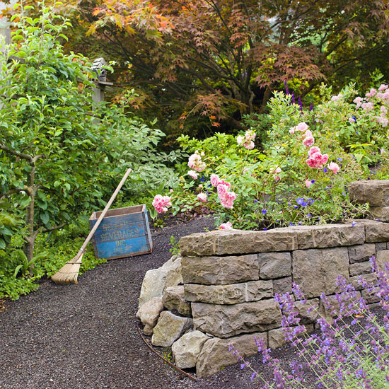 leichte landschaft ideen regeln befolgen steine blüten bunt