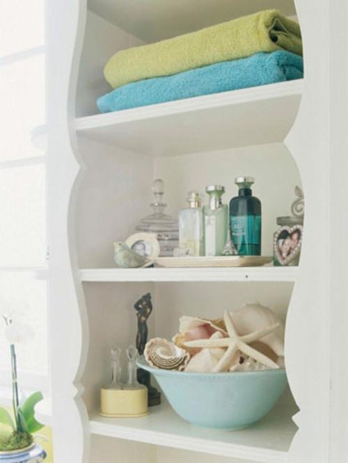 charming badezimmer dekoration meer #2: muschenschalen dekoration frisch sommerlich elegant