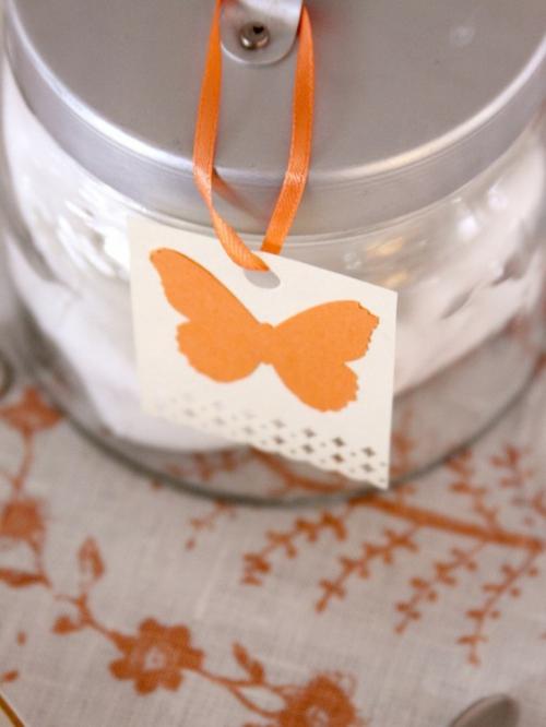 muttertag deko ideen tisch festlich kaffee orange karte