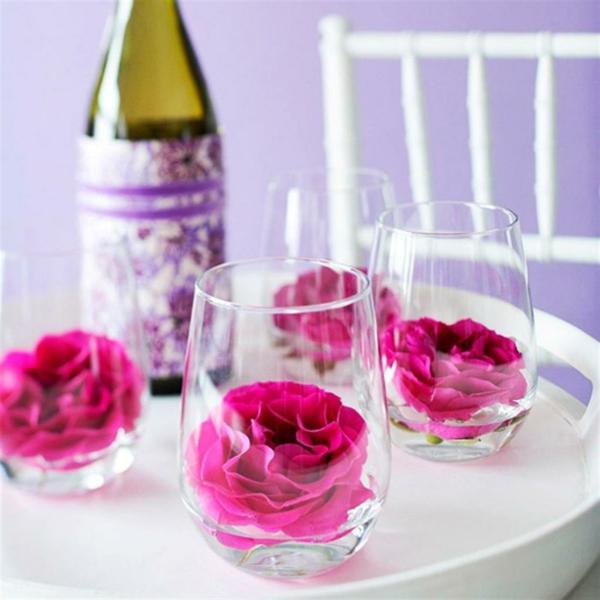 Awesome Muttertag Tisch Deko Ideen Rosa Blumen