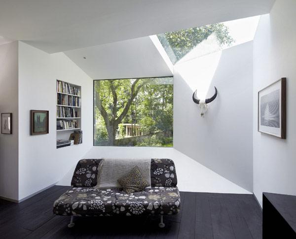naugestaltung lens house london glas zimmerdecke sofa
