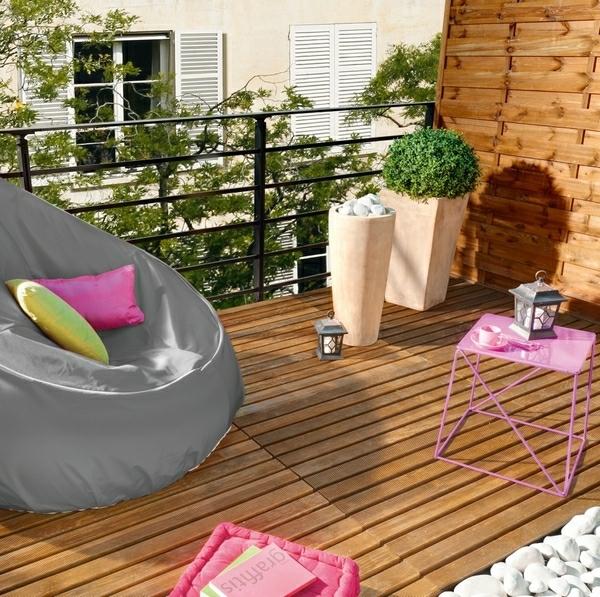 praktische balkon ideen bunt gemütlich ecke erholen