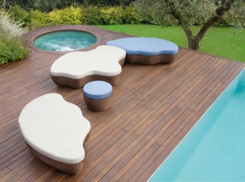 rattania sofa cielo design originell deutsch studio Rattan Gartenmöbel Ideen