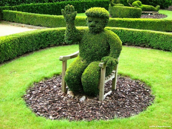 coole pflanzen und gartenkunst  ideen baum art hallo