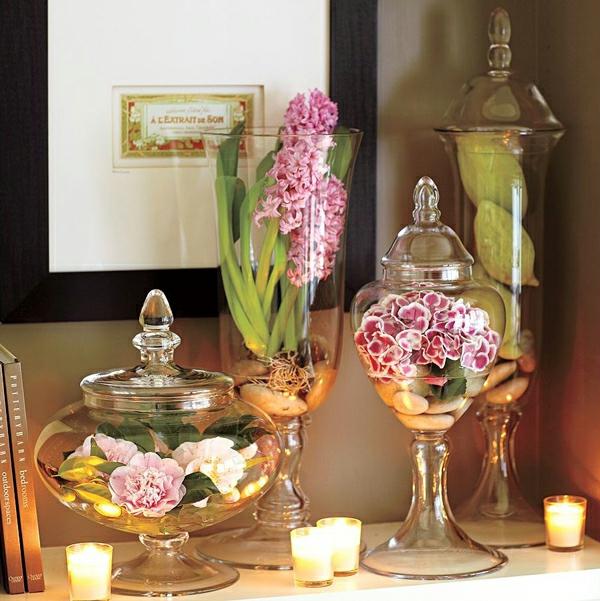 schöne deko ideen zum muttertag blume glas