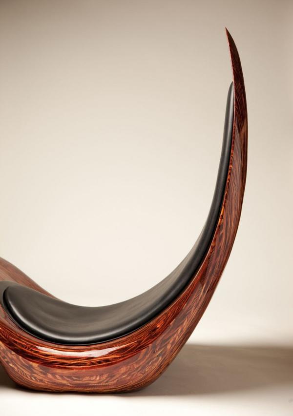 schöner designer lounge sessel holz dünn
