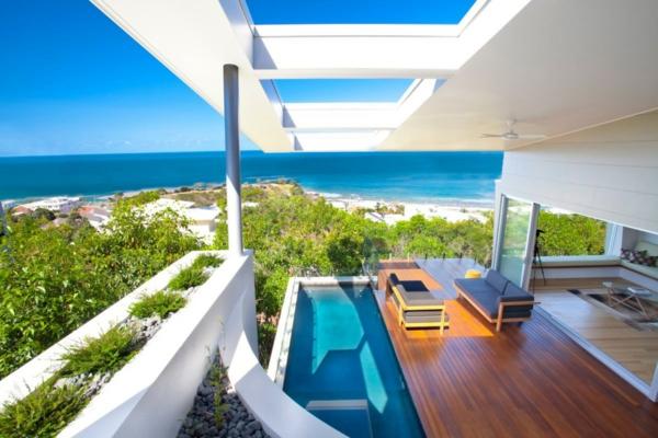 Sichtschutz für Terrassen - coole Bilder von Terrassen Designs