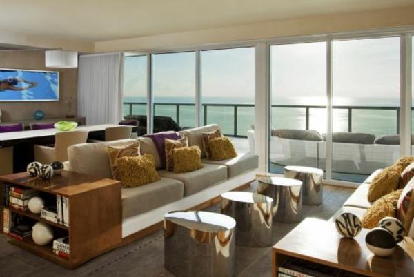 Sichtschutz für Terrassen  beige auflage grau gefäß glas