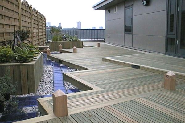 Sichtschutz für Terrassen  beige auflage grau gefäß zaun