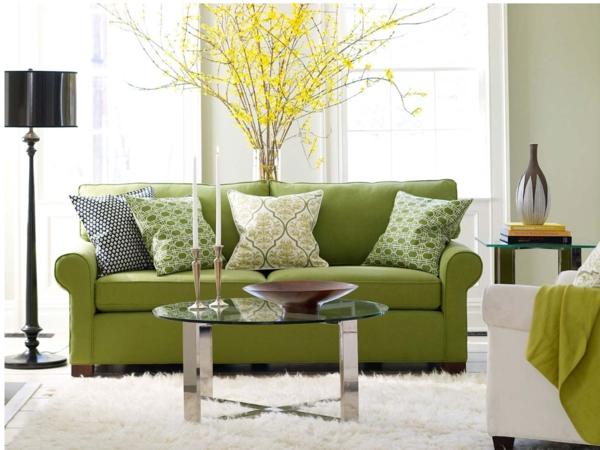 Deko wohnzimmer grün  Sommer Design Deko Ideen - Dekorieren Sie Ihr Haus Design sommerlich !