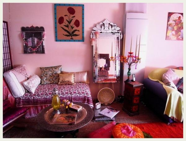 Pink Orientalisch Wohnzimmer