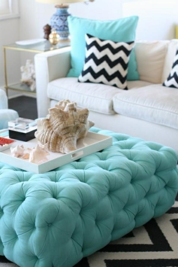 Deko wohnzimmer türkis  Sommer Design Deko Ideen - Dekorieren Sie Ihr Haus Design sommerlich !