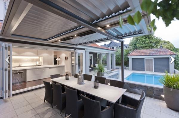 Sommer Gestaltungsideen - Integrierte Innen?und Außenräume Gestaltungsideen Essbereich Im Freien