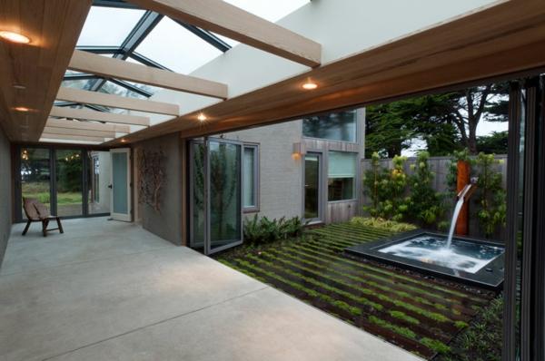 sommer gestaltungsideen integrierte räume innenhof