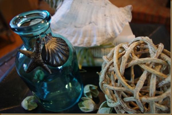 sommer haus dekoration glas tisch akzent