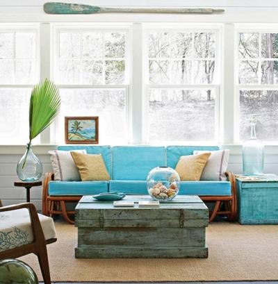 sommerlich idee deko selbermachen lusti blau hell