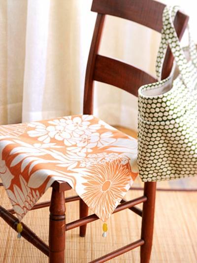 sommerlich idee deko selbermachen lustig stuhl decke