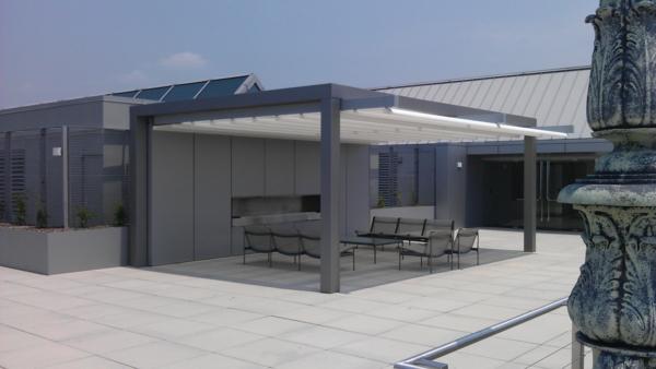 Coole Terrassenüberdachung Ideen hochmodern garten design grau usa