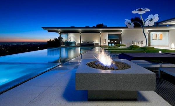 terrasse überdachung hochmodern garten design pool