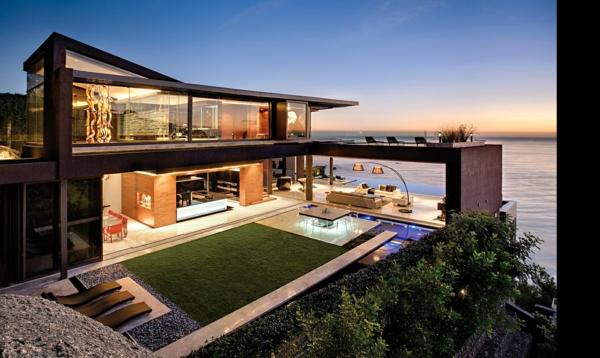 Coole Terrassenüberdachung Ideen hochmodern garten design
