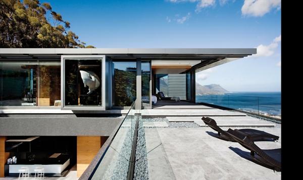 coole terrassenüberdachung ideen hochmodern garten meer