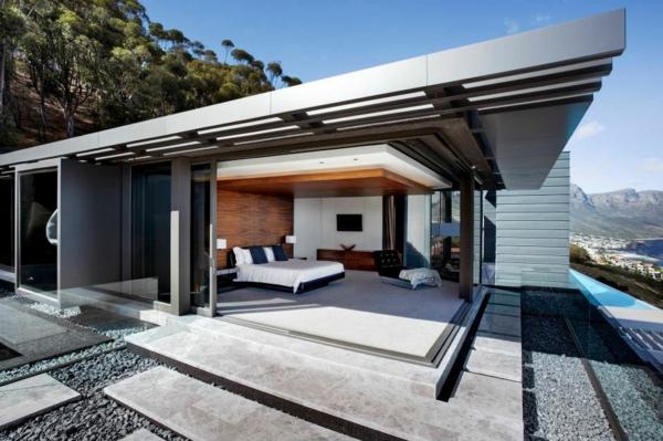 coole terrassenüberdachung ideen hochmodern schlafzimmer freien