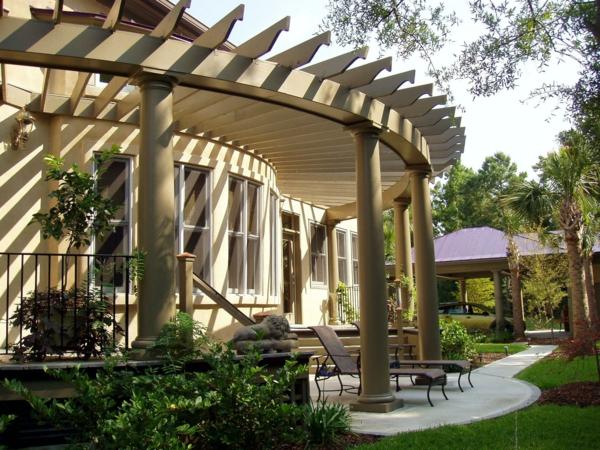 coole terrassenüberdachung ideen hochmodern sitzecke holz
