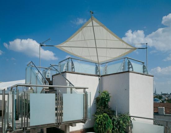terrasse sonnensegel schattenspender designer ideen dach