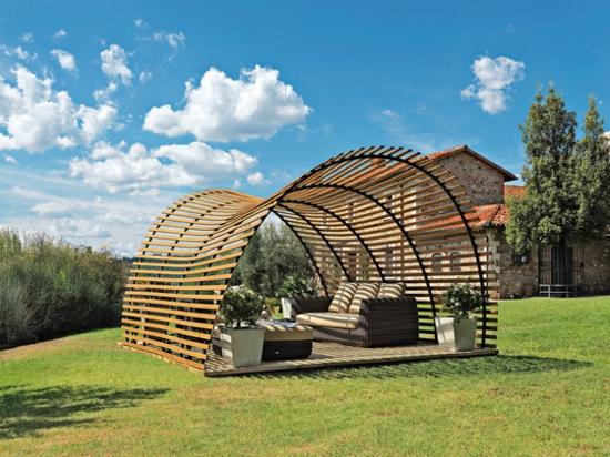 terrasse sonnensegel schattenspender designer ideen wiese