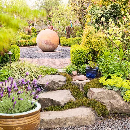trockenheitsverträgliche pflanzen garten steine