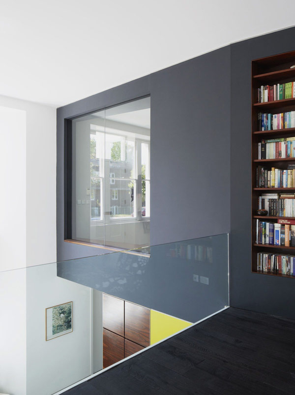 viktorianische villa lens house london büro etage glas bücher