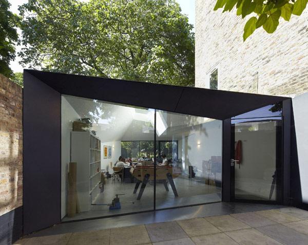 viktorianische villa lens house london eingangstür glaswand