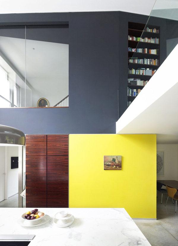 viktorianische villa lens house london küche gelb essbereich