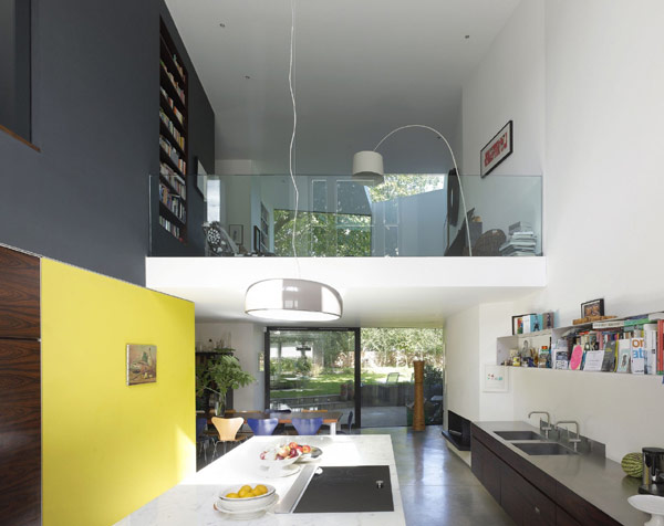 viktorianische villa lens house london küche gelb